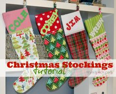 Easy to follow tutorial to make DIY Christmas Stockings for even a newbie. Tutorial includes template and step by step instructions.