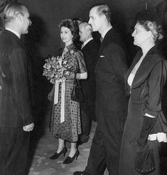 Princess Elizabeth (Queen Elizabeth II) and the Duke of Edinburgh at Canada House, 1951