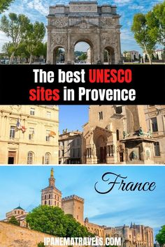 Which are the best UNESCO Sites in Provence (France)? Read about the most famous UNESCO sites in Avignon, Arles and Orange. Includes practical tips about visiting Pont d'Avignon, Palais des Papes, Arenes d'Arles, Amphitheatre in Orange Most Beautiful Cities, Beautiful Places To Visit, Cool Places To Visit, Europe Travel Tips, Travel Destinations, Europe Bucket List, Places In Europe, European Destination, Provence France