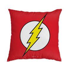 Almofada The Flash DC Comics com 43 x 43 cm e tecido antialérgico.