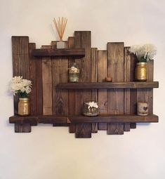 Floating distressed shelves wall mounted shelf by Allthingzrustic – Schwimmendes Wandregal von Allthingzrustic – Rustic Wall Shelves, Solid Wood Shelves, Wood Wall Shelf, Floating Wall Shelves, Pallet Shelves, Wall Mounted Shelves, Rustic Walls, Wooden Shelves, Rustic Decor