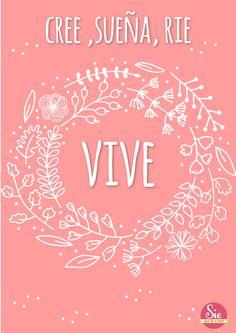 Cree, sueña, ríe y vive ♥ seguinos: www.facebook.com/sieartcraft
