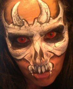 Face paint, by Lorraine Horswell.