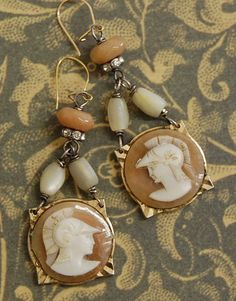 Ancient Rome-Antique Carved Roman Shell Cameo Cuff by Opaline1214