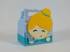 Caixinha Cinderela para decorar e encantar o seu reino encantado. Ideal para lembrancinha de festa no tema Cinderela, festa Princesas Disney.