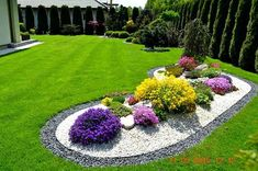 Colorful flowers garden idea.