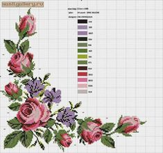 Embroidery patterns borders watches 56 ideas for 2019 Cross Stitch Boarders, Cross Stitch Rose, Cross Stitch Flowers, Cross Stitching, Cross Stitch Embroidery, Embroidery Patterns, Funny Cross Stitch Patterns, Cross Stitch Designs, Mode Crochet