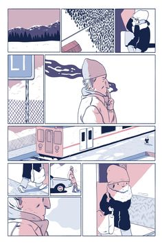 Say Hi For Me by Bianca Bagnarelli for Nobrow's Oh So Quiet. Page 3/4