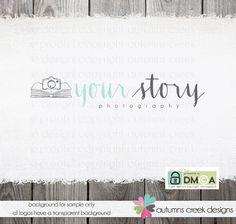 premade logo | book and camera logo