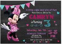 A personal favorite from my Etsy shop https://www.etsy.com/listing/540295668/minnie-mouse-digital-invitation