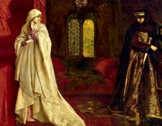 Frank Cadogan Cowper, Fair Rosamund and Eleanor  1920  Eleanor of Aquitaine (c.1122-d.1204).  Wife of Henry II.  Mother of King Richard the Lionhearted