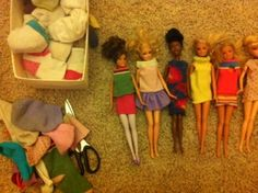 Making simple barbie clothes from lonely socks!