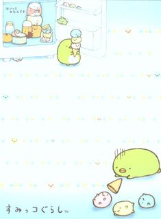 white Sumikkogurashi animal in corner fridge mini Note Pad 3