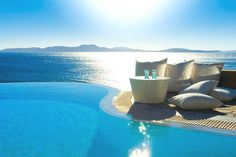 Mykonos Grand is a 5 star Mykonos luxury hotel resort & spa at Ayios Yiannis beach, Mykonos (Myconos), Greece. Experience the best luxury hotel in Mykonos. Infinity Pools, Mykonos Island, Mykonos Greece, Crete Greece, Athens Greece, Luxury Beach Resorts, Hotels And Resorts, Luxury Pools, Beach Hotels