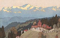 "Japanese Art Print ""Morning of Darjeeling"" from the India and Southeast Asia Series by Yoshida Hiroshi. Shin Hanga and Art Reproductions http://www.amazon.com/dp/B010UUI5HE/ref=cm_sw_r_pi_dp_qdMswb1YHDXXH"