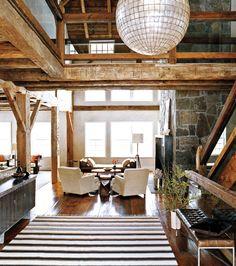 Diseño interior exótica del granero