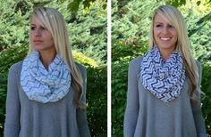 Chevron Infinity Scarves 38% off at Groopdealz