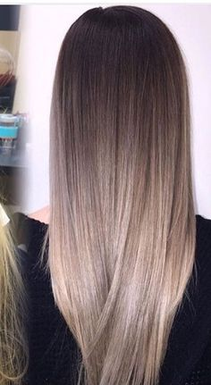 33 trendy ombre hair color ideas of 2019 - Hairstyles Trends Ombre Hair Color, Hair Color Balayage, Hair Highlights, Ash Blonde Balayage, Chunky Highlights, Blonde Brunette, Hair Spa Price, Hair Shades, Gorgeous Hair