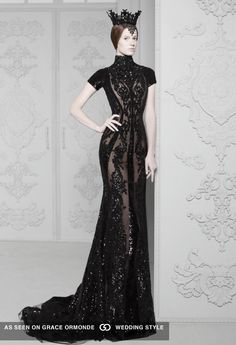 The Look: Michael Cinco Haute Couture 2014 queen I would literally go to work like this! Arab Fashion, Beauty And Fashion, Look Fashion, Fashion Design, High Fashion, Ski Fashion, Dress Fashion, Michael Cinco Haute Couture, Gothic Mode