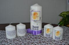 Purple Photo Candle Ribbon Set of 5