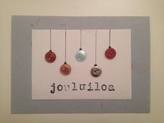 Joulukortti vm. 2014 Christmas Diy, Christmas Cards, Diy Crafts Crochet, Diy Weihnachten, Cardmaking, Something To Do, Koti, Handmade, Google