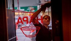 Hapa Ramen ownership releases statement surrounding controversial closure | via Inside Scoop SF | photo: Windows being washed before service at Hapa in San Francisco, Calif., on Thursday, March 5th,  2015. Photo: John Storey/The Chronicle