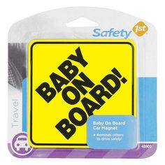 Safety 1st Baby On Board Car Magnet yellow