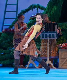 Winter's Tale choreographed by Christopher Wheeldon with music by Toby Talbot and conducted by David Briskin at The Royal Opera House Covent Garden.   The superb Valentino Zucchetti as the Clown. Picture by Nigel Norrington.