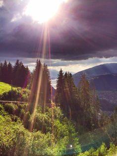 Beautiful evening mood above #Interlaken.
