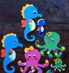toys - Reciclagem divertida e artesanato: Cavalos Marinhos e Polvinhos