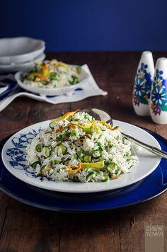 Zucchini Flower Rice Salad | Chew Town Food Blog