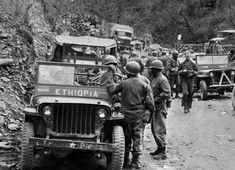 Sixteen nations sent forces to fight in the Korean War on the allied side. One of the lesser-known contingents was Ethiopia's Kagnew battalion. It was equipped almost entirely with surplus Am… South Vietnam, Vietnam War, South Korea, History Of Ethiopia, 7th Infantry Division, Jah Rastafari, Syrian Civil War, Lion Of Judah