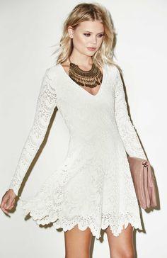 lace dress + necklace