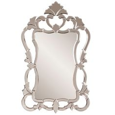 Howard Elliott  Contessa 26 x 43 Brown Wall Mirror
