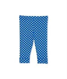 Baby girl polka dot leggings Delft blue / Ecume white - Petit Bateau
