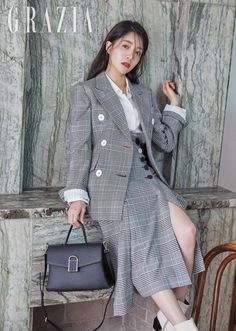 Jung In Sun in Grazia Pictorial After Successful Drama Lead Role in Terius Behind Me Jung In, Grazia Magazine, Lead Role, My Fair Lady, Korean Celebrities, Korean Actresses, Losing Her, Korean Drama, Wrap Dress