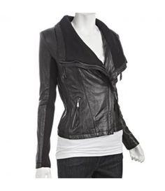 Women Asymmetrical Black Leather Jacket . Join me on Pinterest at @patriciahmann black leather jacket  #women fashion  #style