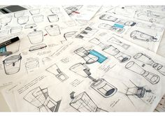Sketches we like / Pencil / Ballpen / Formal exploration / SKETCH WORK by Harriet Price, via Behance.