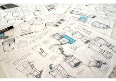 Sketches we like / Pencil / Ballpen / Formal exploration / SKETCH WORK by Harriet Price, via Behance.