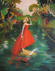 The Magical Feminism of Janet Hill's Paintings – She's So Bright Shipwreck Image, Oil On Canvas, Canvas Wall Art, Large Prints, Fine Art Prints, Janet Hill, The Artist, Art Studios, Cello