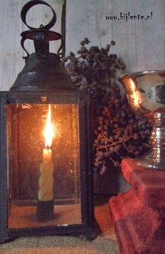 The old French lanterns bring joy and warmth during these dark days.
