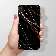 Buy designer iPhone XR Black Marble Case and protect your Apple iPhone XR in style with Fabolyn phone case. Phone Cases Marble, Marble Case, Cute Phone Cases, Iphone Cases, Pixel Phone, Electronic Deals, 3 Things, Iphone 7 Plus, Ipod