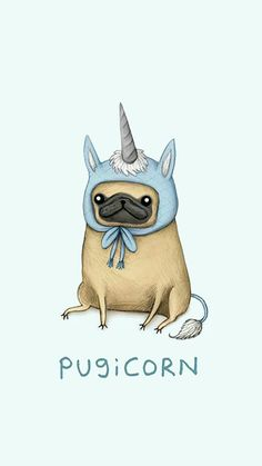 Because pugs are life and so are unicorns together they make life AMAZING