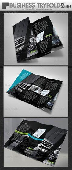 Car Business Tri-Fold Brochure  —  EPS Template