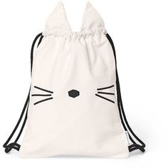 Liewood - gert gym bag - cat ($42) ❤ liked on Polyvore featuring bags, pattern bag, cat print bag, decorating bags, checkered bag and cat bag