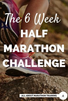 Try this 6 Week Half Marathon Training Plan that is great for runners or walkers. You can also choose the challenge to receive cross-training, tips, motivational boosters, recipes and logs straight to your inbox to help keep you on track and motivated! #allaboutmarathontraining #halfmarathon #halfmarathontrainingplan
