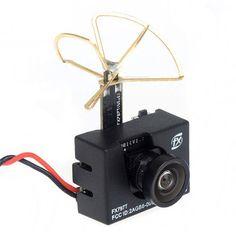 FX797T 5.8G 25mW 40CH AV Transmitter With 600TVL Camera for  Quadcopter FPV Camera Drone