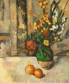 Paul Cézanne - Vase with Apples