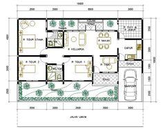 desain rumah 1 lantai 3 kamar - Google Search