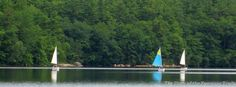 Sailing on #Yawgoog Pond.  A Facebook cover photo by David R. Brierley.